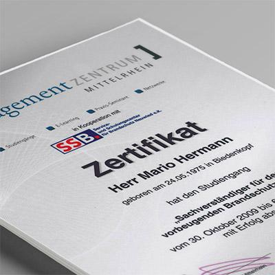 Zertifikate MH-Plan - EU-zertifizierter Sachverständiger nach DIN EN ISO/EC 17024